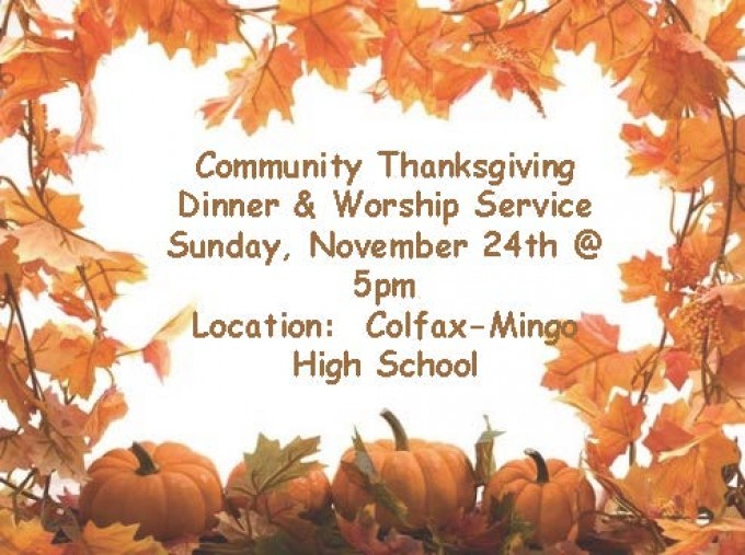 Community Thanksgiving Supper & Worship Service